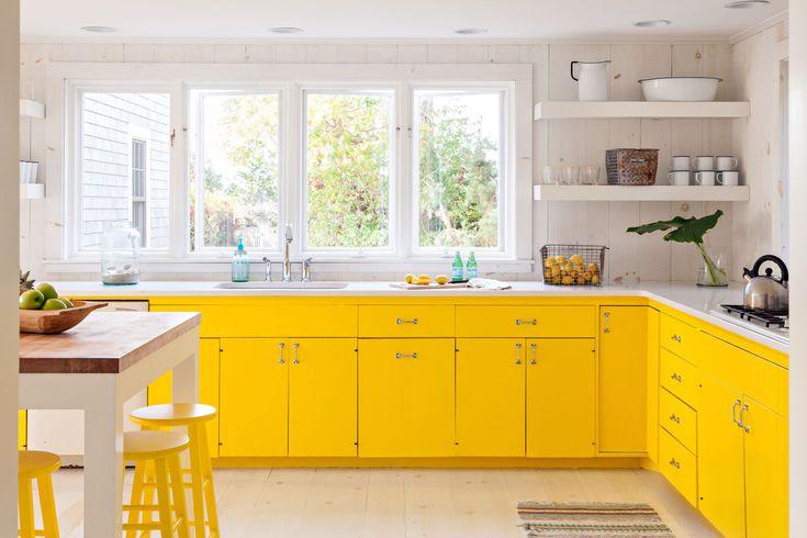 دکوراسیون آشپزخانه با رنگ زرد روشن