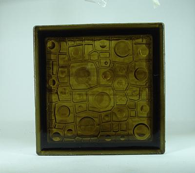 بلوک شیشه ای برنز باران