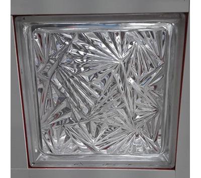 بلوک شیشه ای سفید یخ