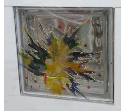 بلوک شیشه ای طرح دار ۳