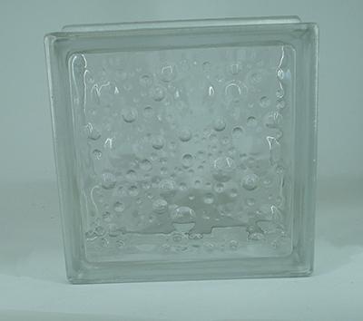 بلوک شیشه ای سفید حباب