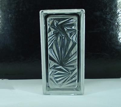 بلوک شیشه ای سفید گل یخ