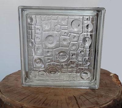 بلوک شیشه ای سفید باران